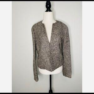 Brooks Brothers Woven Wool Tweed Blazer Size 8